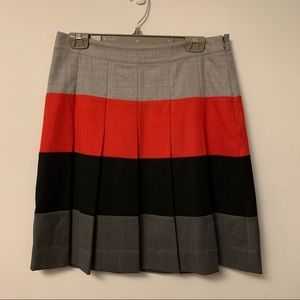 Tommy Hilfiger pleated colour blocked skirt